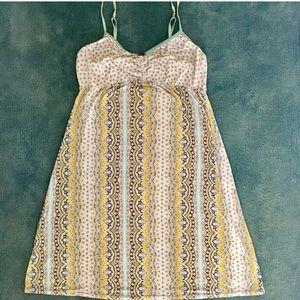 Vintage DKNY slip / dress silky blue pattern